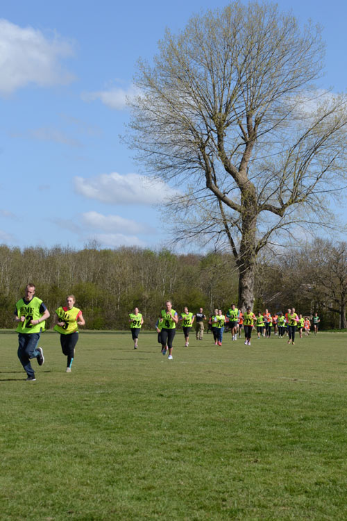 Bootcamp members running