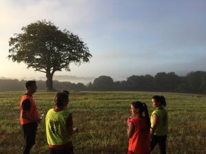 Members take in the view at Deers Leap Park East Grinstead